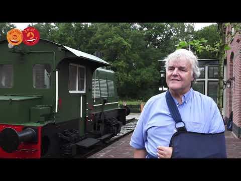 Oude locomotief bij station Huis ter Heide