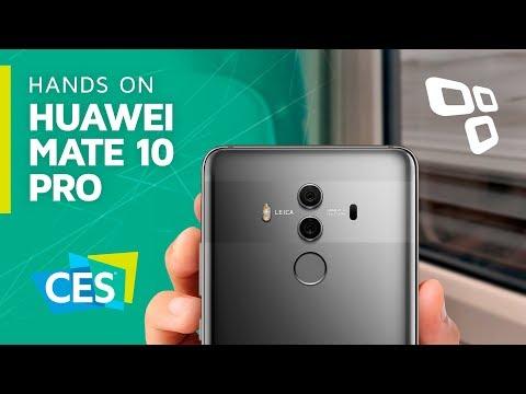 Hands on: Huawei Mate 10 Pro, o novo top de linha da marca - CES 2018 - TecMundo