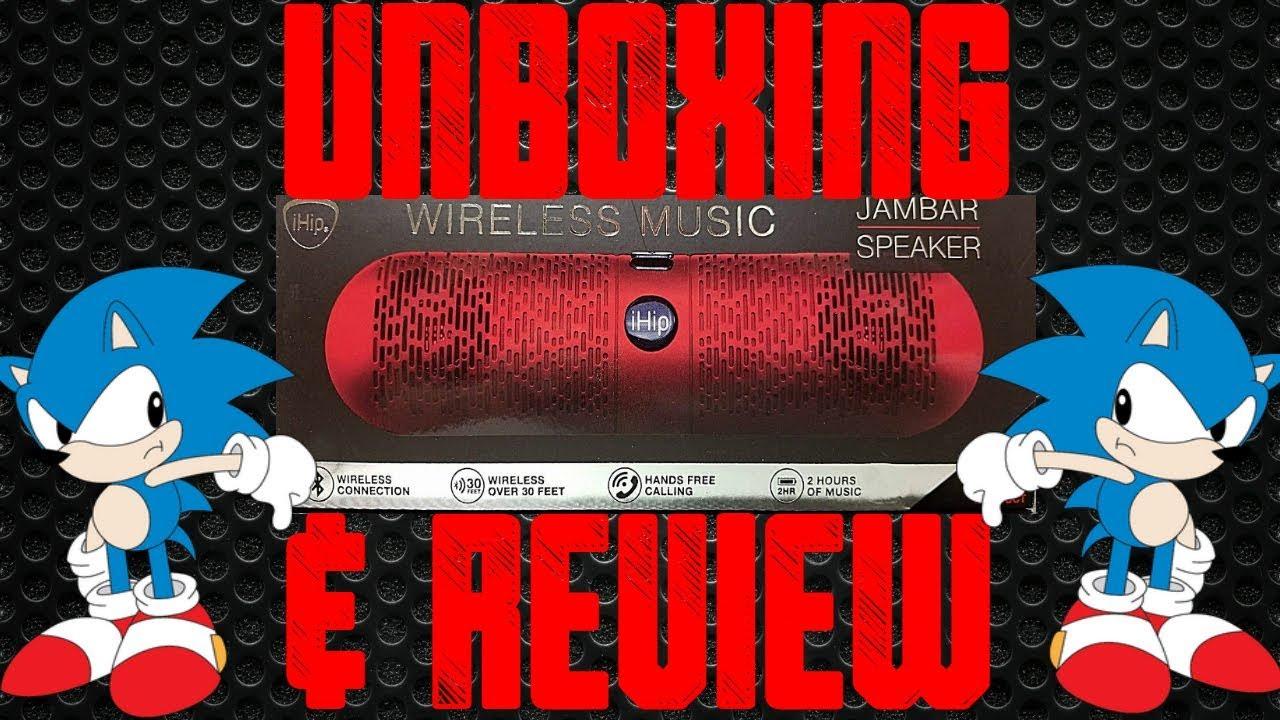 iHip Jambar Bluetooth Speaker Unboxing & Review by kamikaze s0undwavez