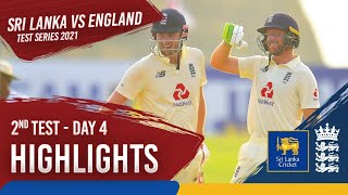 Day 4 Highlights | Sri Lanka v England 2021 | 2nd Test at Galle | England seal the series