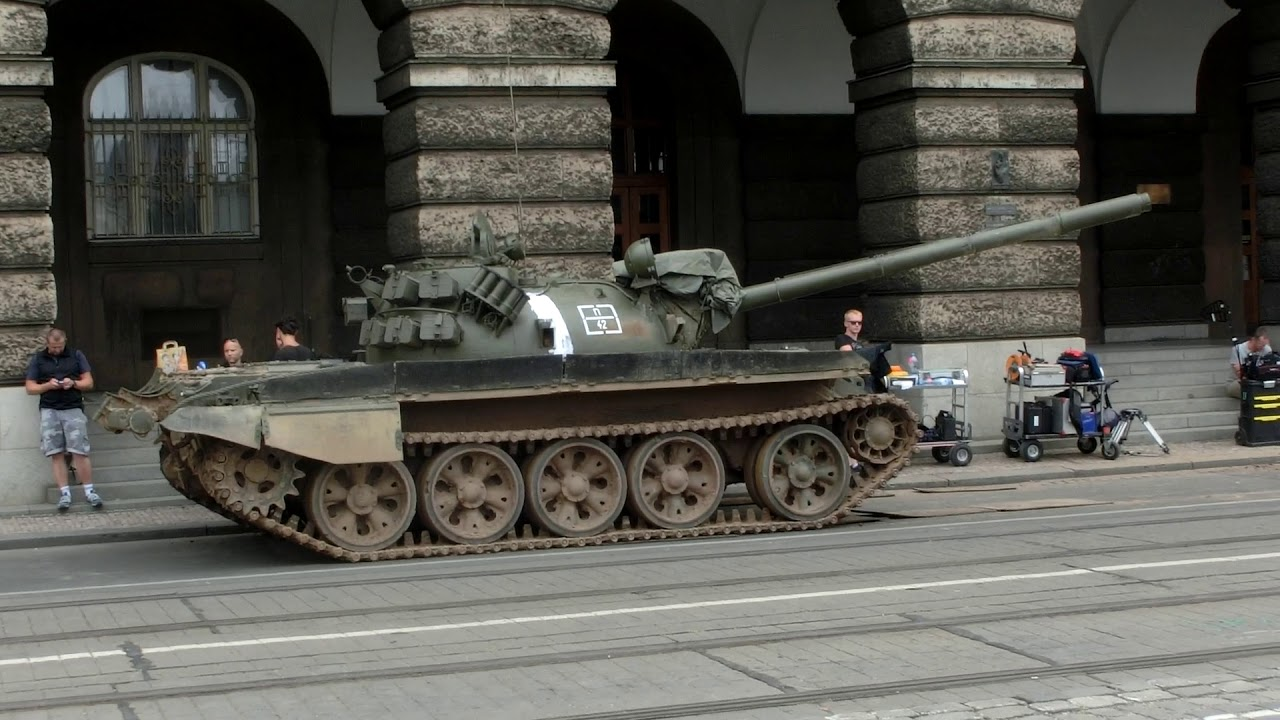 b988cb5e3bb6 ... clearance prices a0c21 72945 T-55 Tanks in Prague for a movie about the  Soviet ...