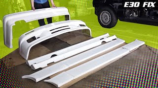 E30 Fix 12 | Aftermarket M-Tech 2 Fiberglass Body Kit Install