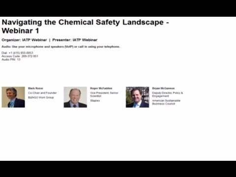 Navigating the Chemical Safety Landscape - Webinar 1 of 3
