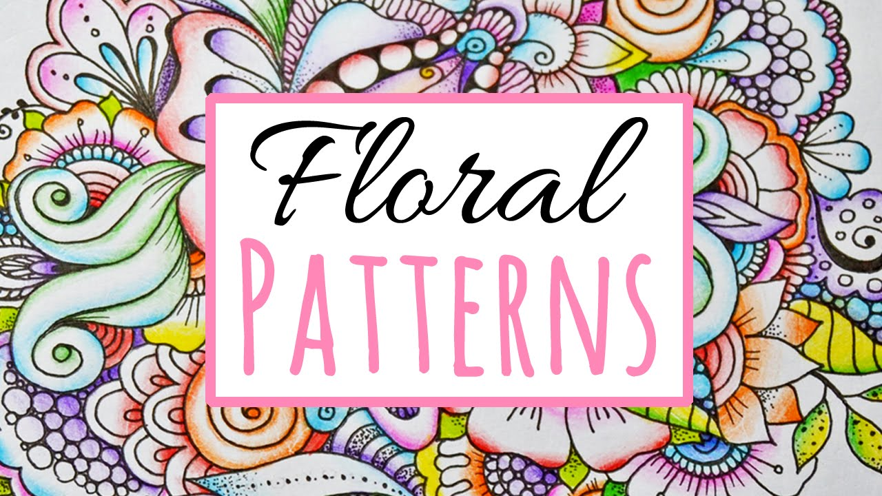 How To Color Zentangle Flowers