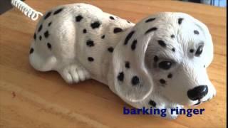 Vintage Novelty Dalmatian Puppy Telephone Barking Phone Corded Animal Dog Pet
