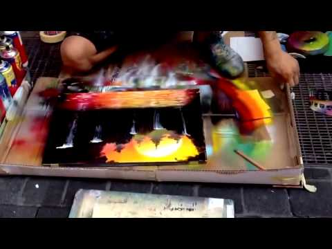 Pelukis Jalanan, Karya Lukisan Harga Milyaran Rupiah, Skill,Spray Paint