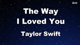 the-way-i-loved-you---taylor-swift-karaoke-with-guide-melody
