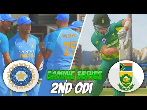 INDIA vs SOUTH AFRICA 2018 2ND ODI - ASHES CRICKET 17 (GAMING SERIES)