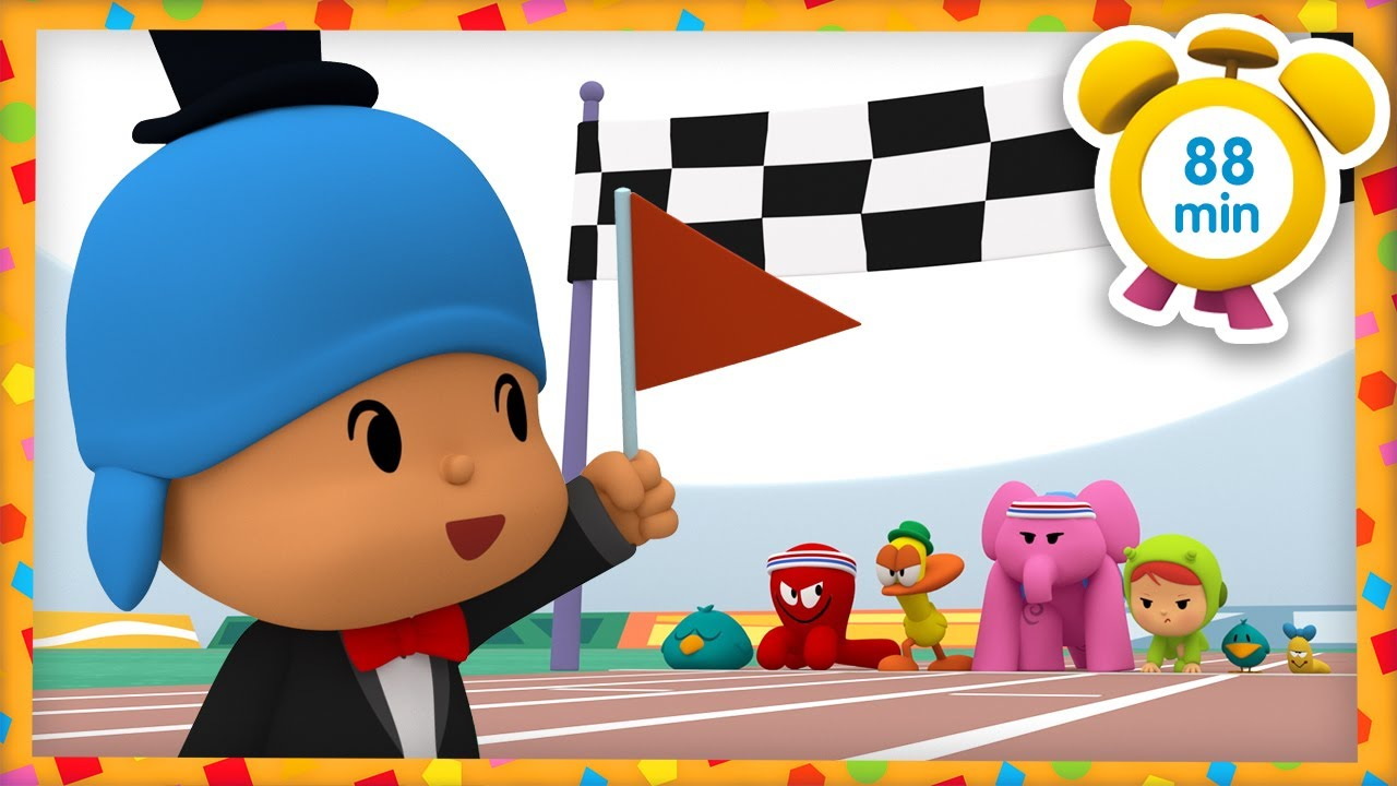 🏃 POCOYO in ENGLISH - Athletics [88 minutes]   Full Episodes   VIDEOS and CARTOONS for KIDS
