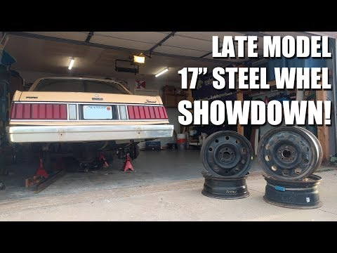 Late Model Crown Vic vs Dodge Charger Steel Wheels
