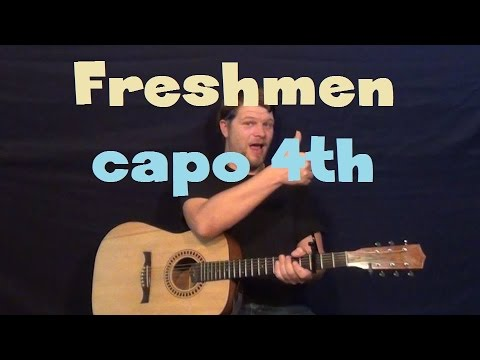 The Freshmen (The Verve Pipe) Easy Guitar Lesson How to Play Tutorial Capo 4th Fret