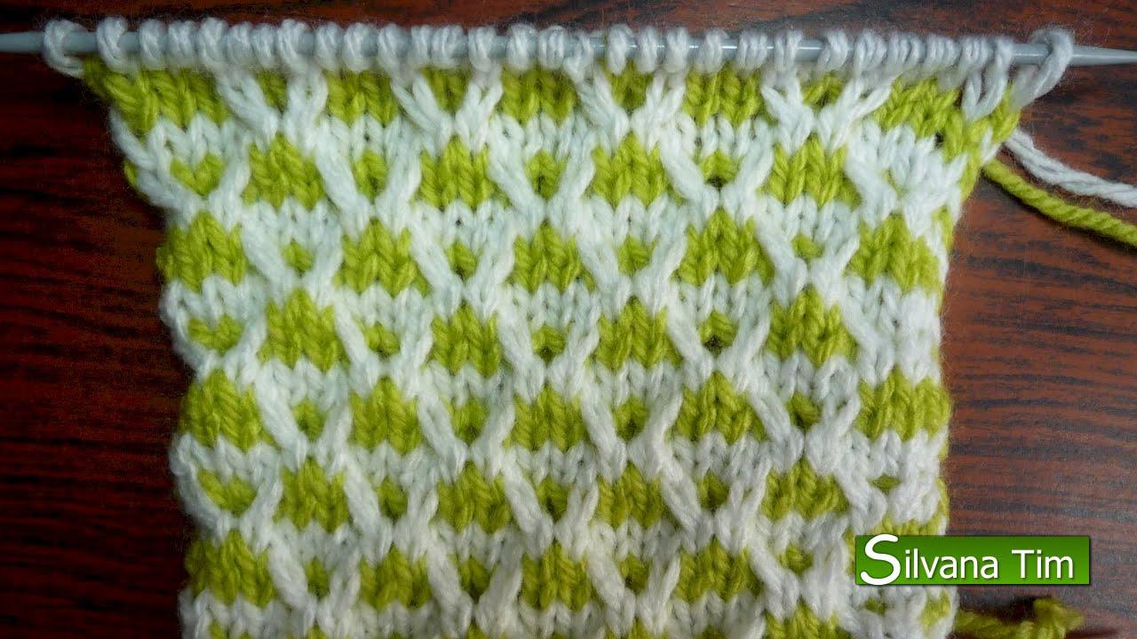 Многоцветные узоры спицами со схемами фото 353