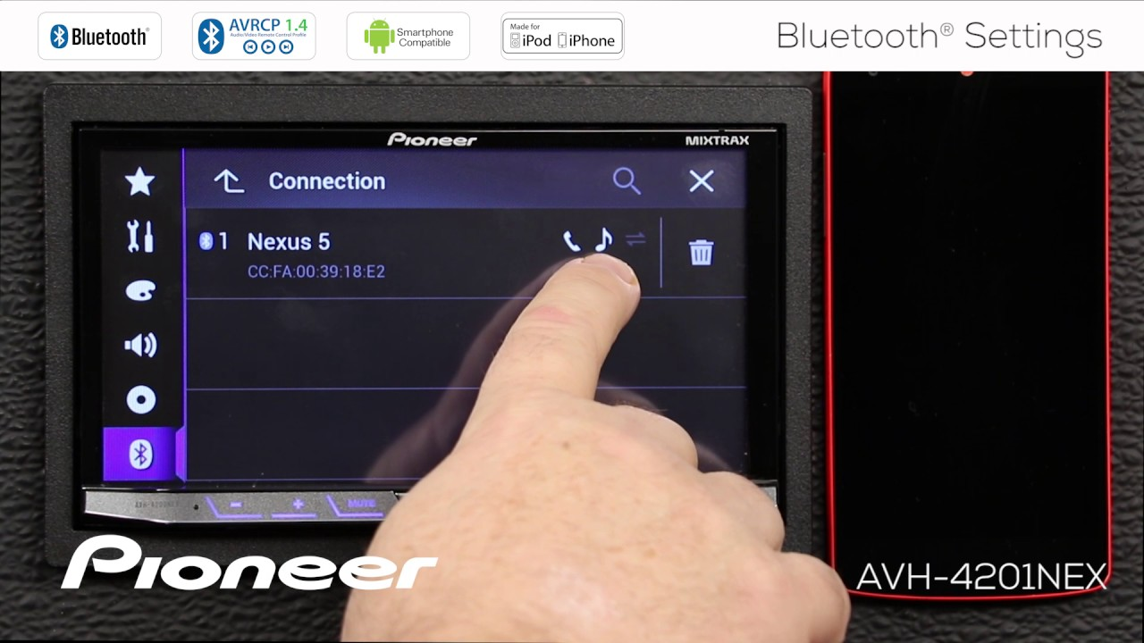 How To - Bluetooth Settings Menu for Pioneer NEX Receivers 2017