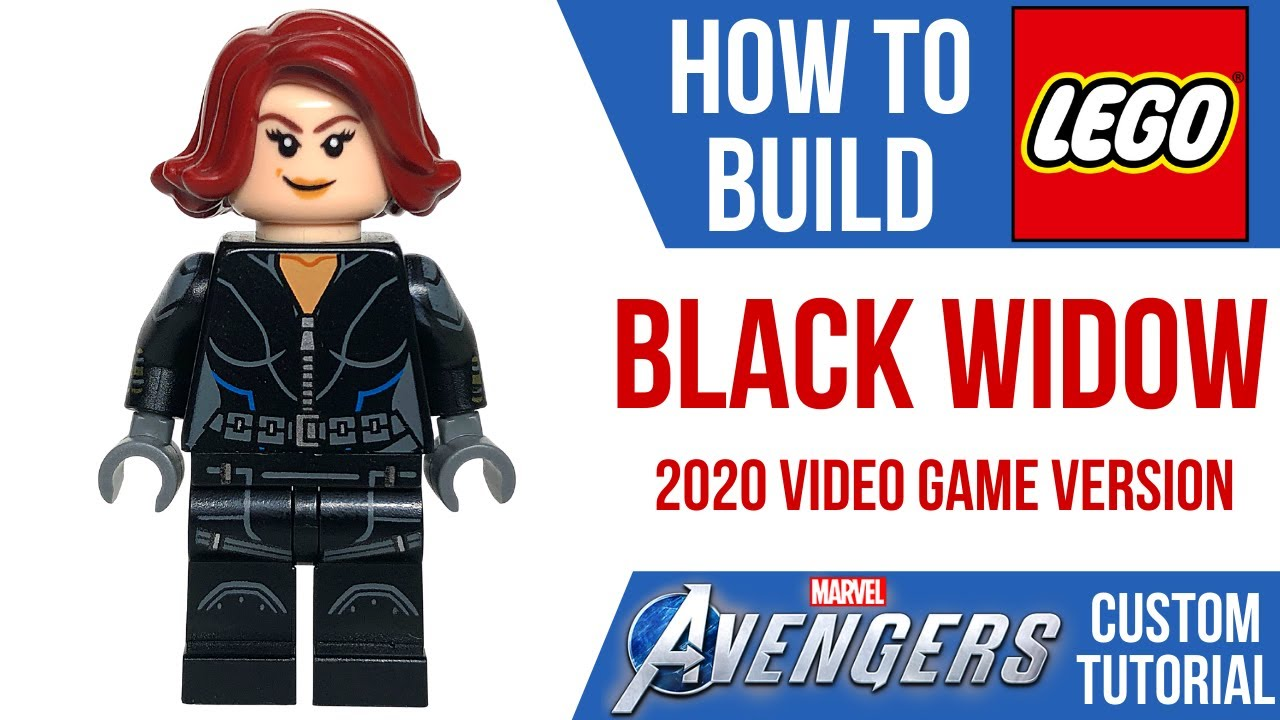 HOW TO Build LEGO BLACK WIDOW from the 2020 Avengers Video Game