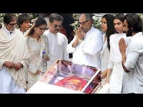 Full Uncut: Bollywood Celebraties Break Down In Sridevi Funeral | Celebs Attend Sridevi Last Journey