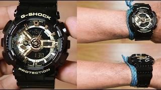 CASIO G-SHOCK GA-110GB-1A BLACK GOLD - UNBOXING