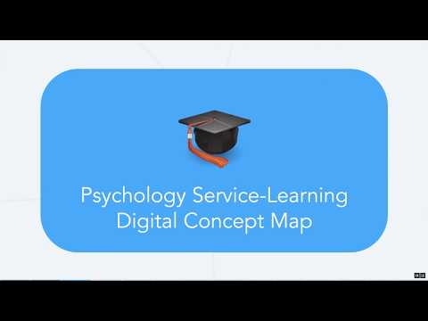 Psychology Service Learning Concept Map - Project Tutorial
