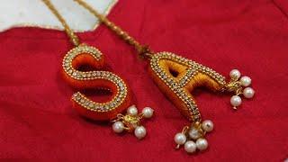 New Silk Thread Alphabet Blouse Latkan making at Home |Bridal Designer Latkans