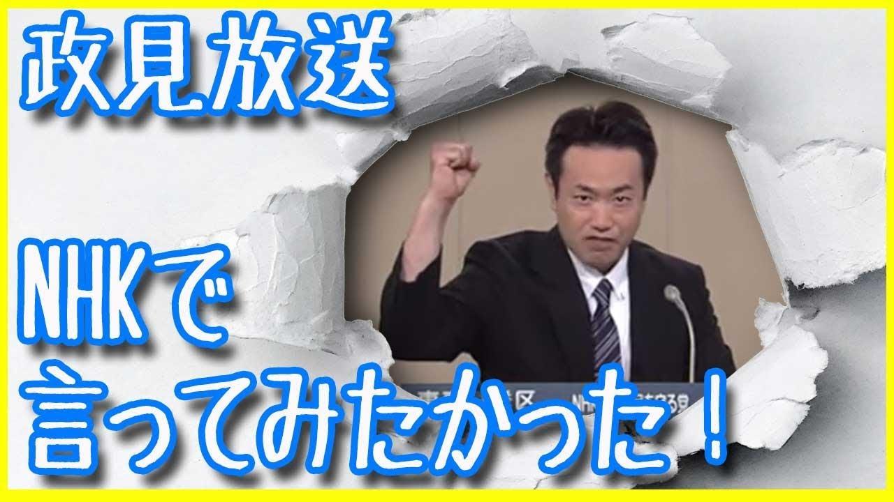 【NHKの政見放送】一番好きかも…ぶっちゃけNHKって既に壊れてる?【NHKから国民を守る党】