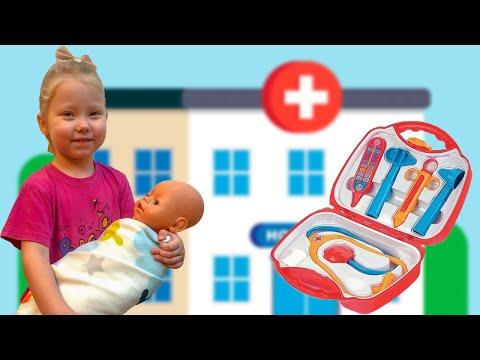 Детский набор доктора. Кукла Катя БЕБИ БОН плачет! Вика не знает что делать!