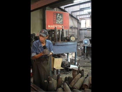 Making Maestro Wu Bombshell Steel Knives / 金合利鋼刀 金寧廠 (Kinmen / 金門縣 / 金门县)