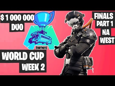 Fortnite World Cup WEEK 2 Highlights - Final Part 1 NA West DUO [Fortnite Tournament 2019]