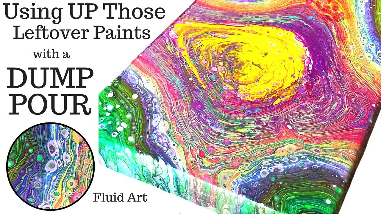 Fluid Art Dump Pour With Swirl Technique And Silicone
