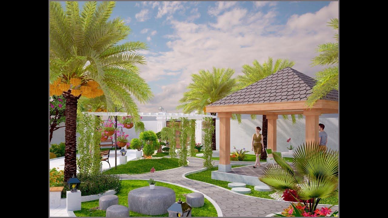 Thiết kế sân vườn biệt thự đẹp hồ cá nhà Anh Kha tại Vĩnh Long