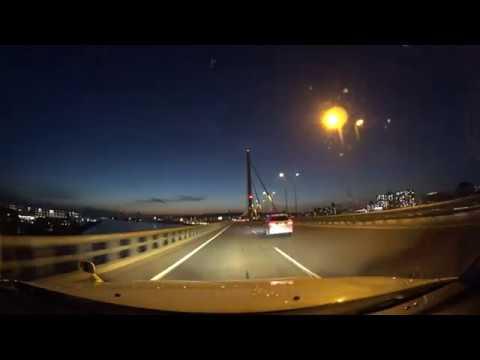 Osaka night drive 4K 阪神高速 湾岸線 2017