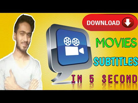 How To Downlod Movie Subtitles in 2 Seconds, One Click Subtitle Download  Method