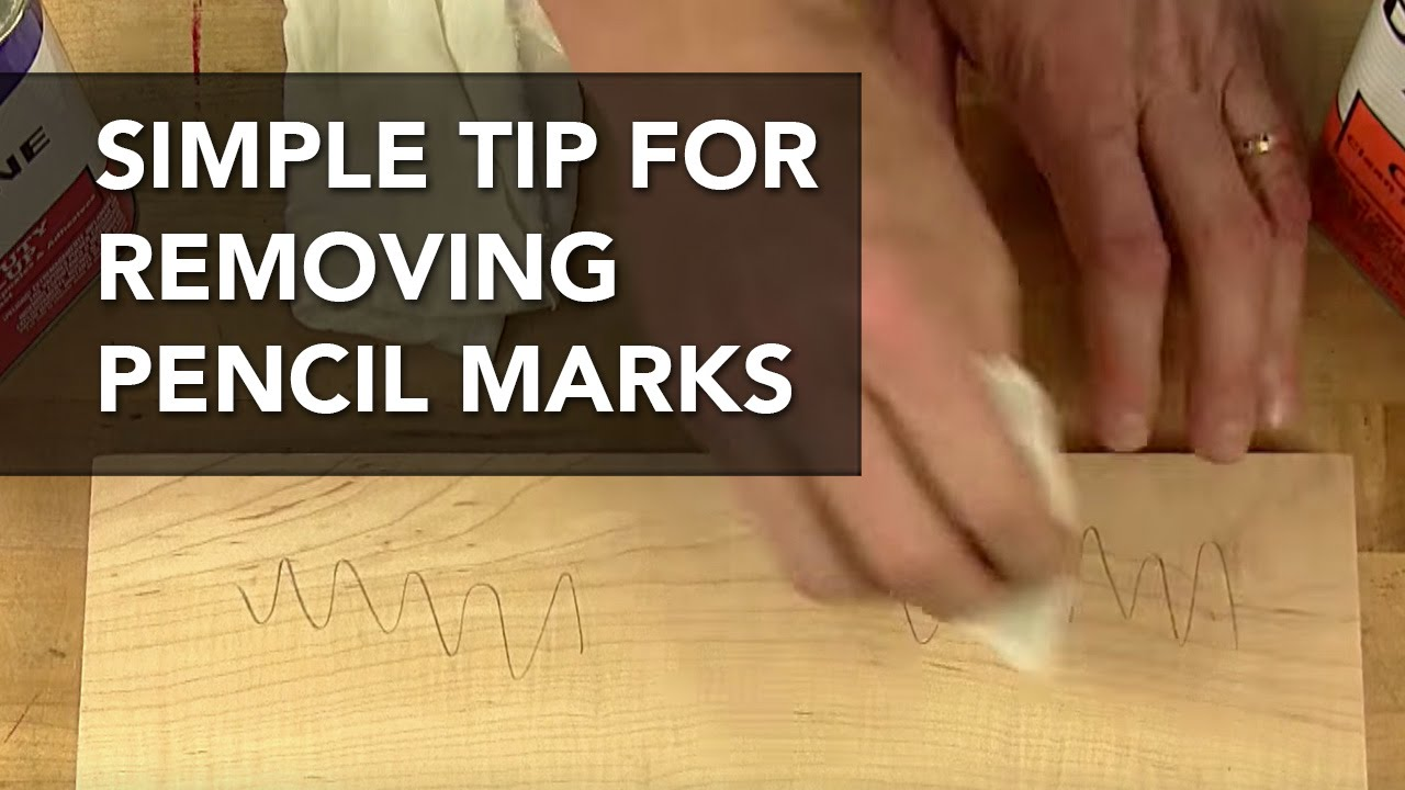 how to remove pencil marks on wood youtube
