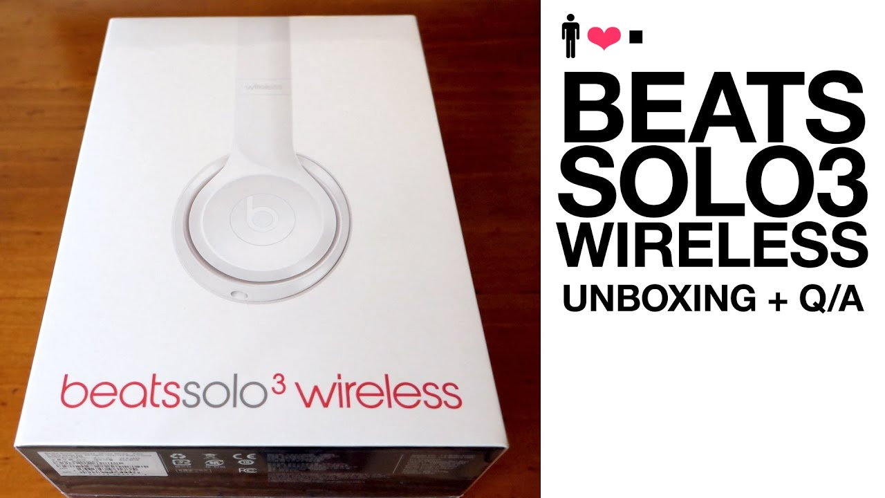 Beats Solo 3 Wireless Unboxing First Impressions Review Youtube