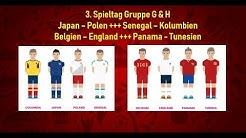 WM Tipps & Vorhersagen: Belgien - England, Kolumbien - Senegal, Polen - Japan, Panama - Tunesien