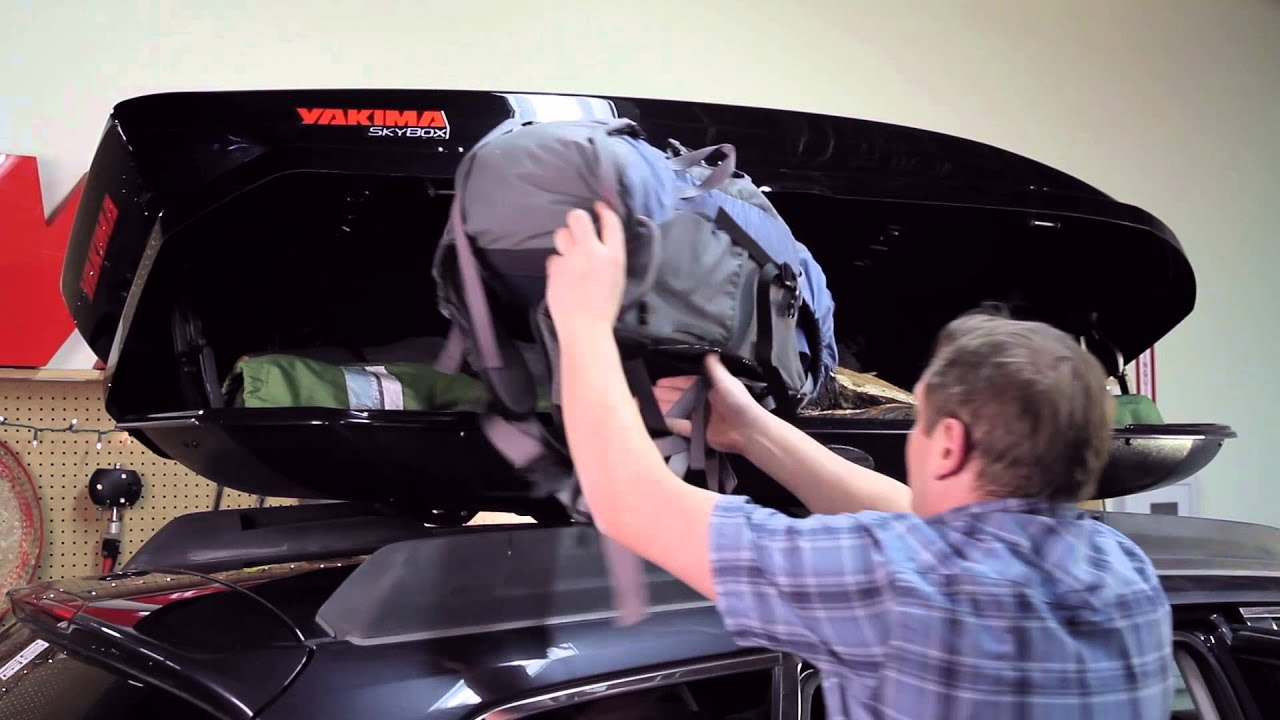 Yakima Skybox 16 Roof Box Installation Demonstration Youtube