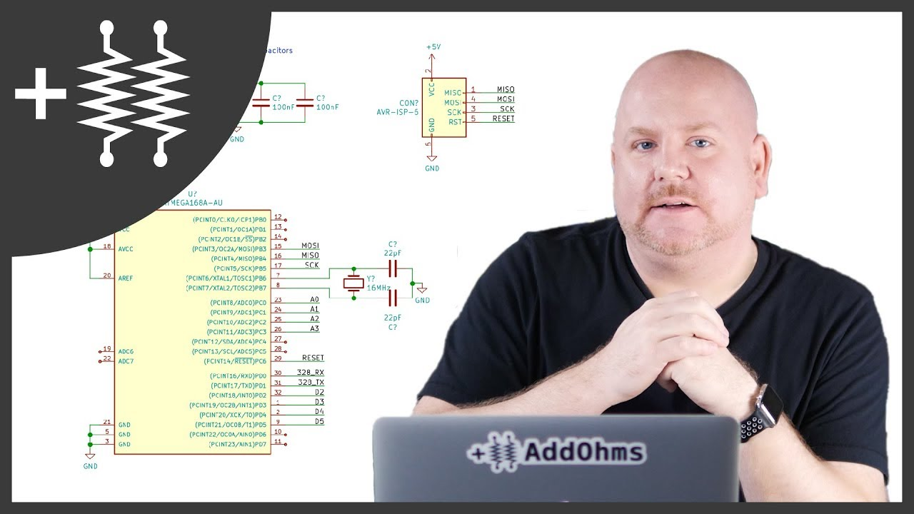 Diy Arduino Schematic Kicad Addohms 23 Youtube Wiring Diagram Online