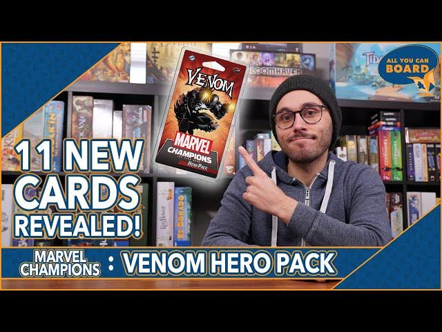 VENOM Hero Pack | Marvel Champions | 11 New Cards REVEALED! (FOUR Nemeses!?)