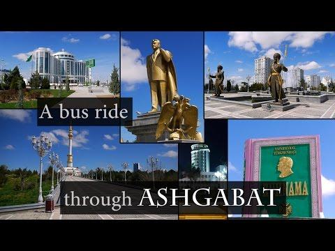 A bus ride through Ashgabat, Turkmenistan