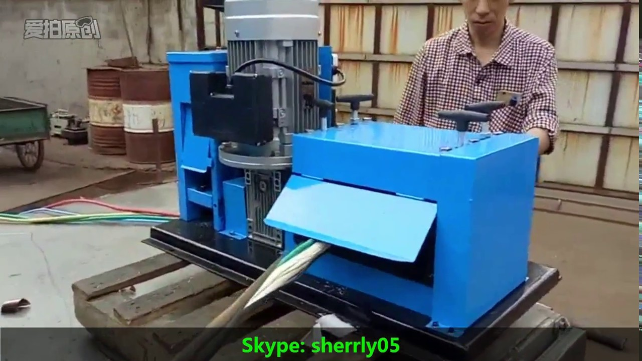 2017 hot sales 1~80mm electric copper cable striper machinery ,wire ...