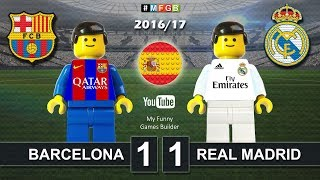 BARCELONA vs REAL MADRID 1-1 • El Clasico • LaLiga 2016 / 2017 ( Film Lego Football ) ElClasico