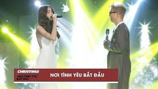 noi tinh yeu bat dau - ho ngoc ha bui anh tuan  christmas live concert official video