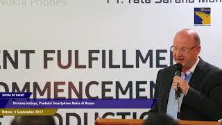Pertama kali, Produksi Smartphone Nokia di Batam