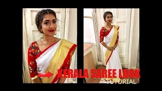 Kerala Saree look tutorial | Step by Step| Vithya Hair and Make Up