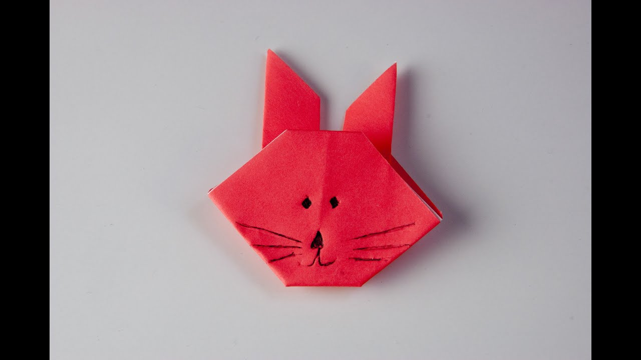 Como hacer un conejo de papel origami youtube - Como hacer jarrones de papel ...