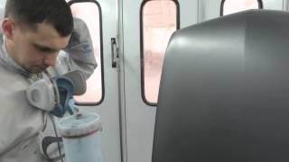 Как покрасить капот без пятен