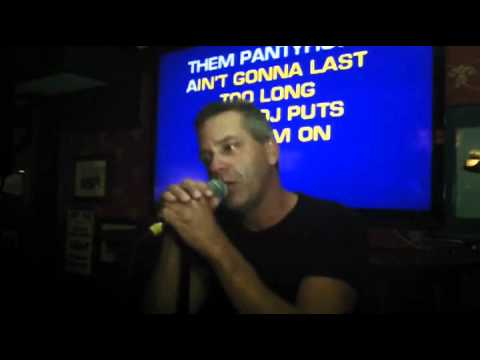 Dave sings Tequila Makes Her Clothes Fall Off  Karaoke at The Brassie  in Ancaster- YouTube.wmv