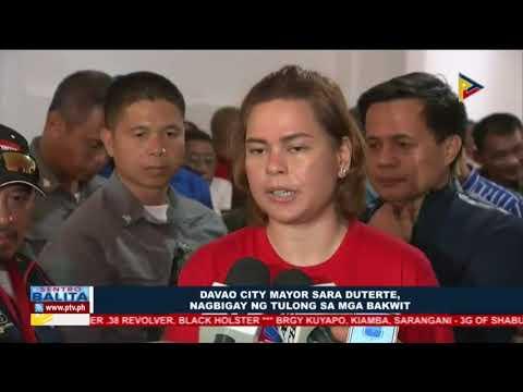 Davao City Mayor Sara Duterte, nagbigay ng tulong sa mga bakwit