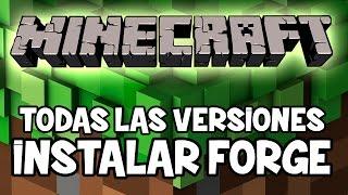 Minecraft 1.7.2 1.8 y Forge 1.9 - Como Instalar MINECRAFT FORGE- INSTALAR MODS MINECRAFT 1.9