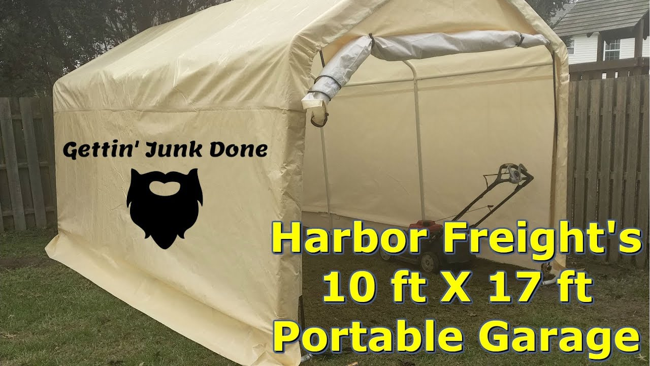 Harbor Freight Portable Garage 10 ft X 17 ft Initial ...