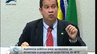 Min. do Trabalho, Carlos Lupi comenta denúncias do Correio Braziliense