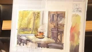«Уроки рисования». Этюд интерьера (30.09.2016)